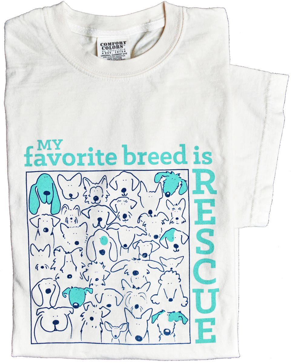 My favorite breed is Rescue t-shirt